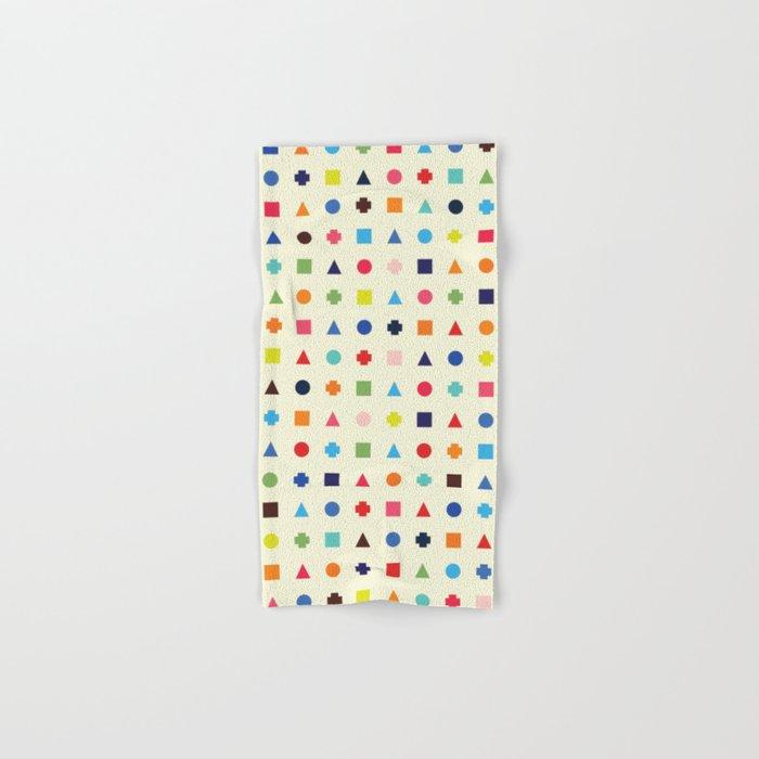 Dot Triangle Square Plus Repeat Hand & Bath Towel