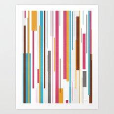 Geometric Rain 2 Art Print