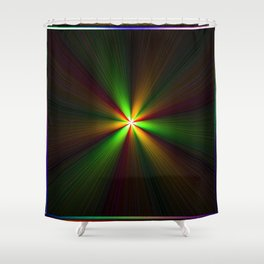 Abstract perfection - Spectrum Shower Curtain