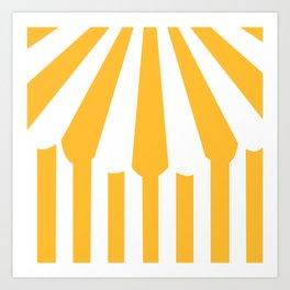 yellow tent Art Print