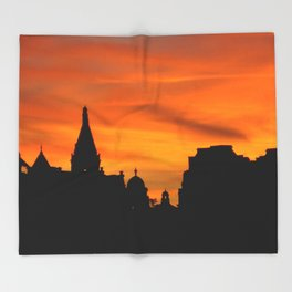 London Sunset in sillouette bywhacky Throw Blanket