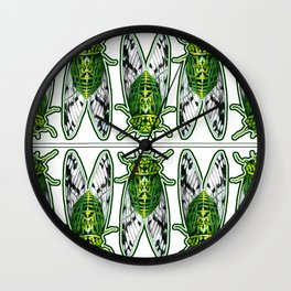 Emerald Cicadas Wall Clock