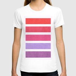 Red & Purple Geometric Pattern T-shirt
