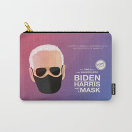 BIDEN HARRIS and a MASK (red) Carry-All Pouch