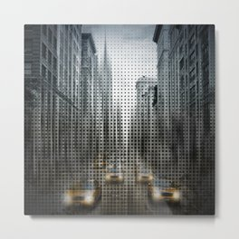 Graphic Art NYC 5th Avenue Traffic V Metal Print