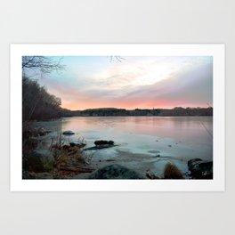 Connecticut Lake Sunrise Art Print