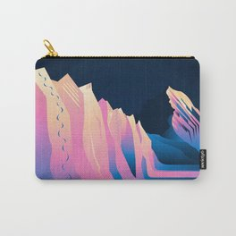 Blue Pink Peaks Carry-All Pouch