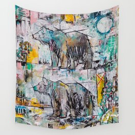 Bear in Area Wall Tapestry