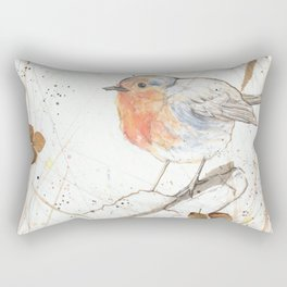 Kleine rote Vögelchen (Little red birdies) Rectangular Pillow