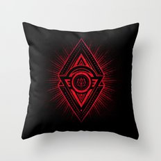 The Eye of Providence is watching you! (Diabolic red Freemason / Illuminati symbolic) Throw Pillow