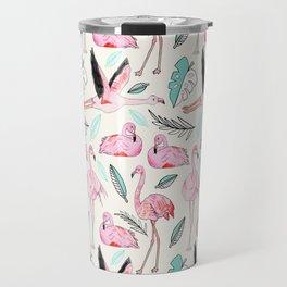 Flamingos Forever Travel Mug