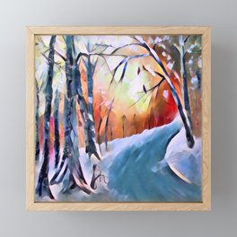 Paysage Framed Mini Art Print