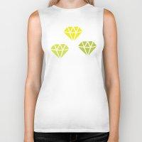 diamonds Biker Tanks featuring Diamonds by evannave