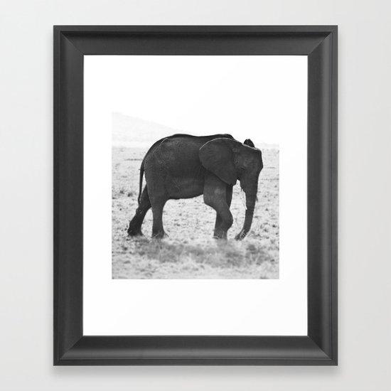 An Elephant Calf Framed Art Print