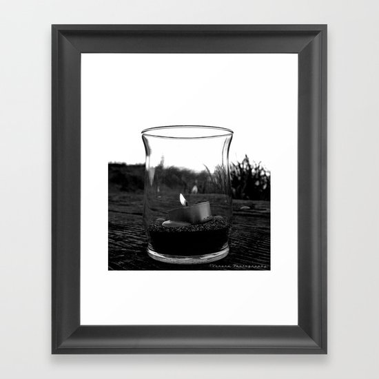 Seaside flame Framed Art Print