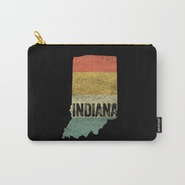 Retro 80s Distressed Vintage Sunset Indiana Carry-All Pouch