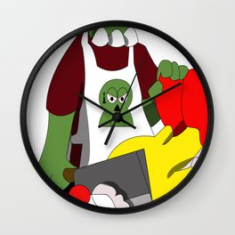 Zombie #004: Mikail The Butcher Zombie Wall Clock