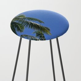 Palm trees, blue sky Counter Stool