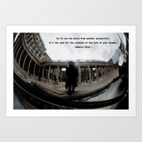 Try to see the world from another perspective Art Print