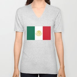 Mexican States Flag - Flag of Mexico Unisex V-Neck