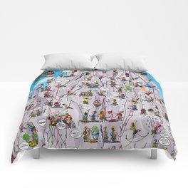 Bubble climbing Comforters