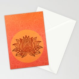 Lotus Flower of Life Meditation  Art Stationery Cards