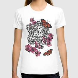 Cherry Blossom Spare Ribs and Butterflies T-shirt