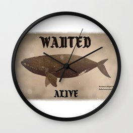 Wanted alive collection: Northern right whale Wall Clock