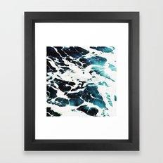 Dark Ocean Waves Framed Art Print