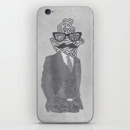 The Gentlemanly Squiggle iPhone Skin