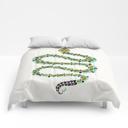 Turquoise Serpent Comforters