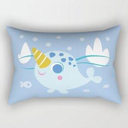 Baby Narwhal Rectangular Pillow