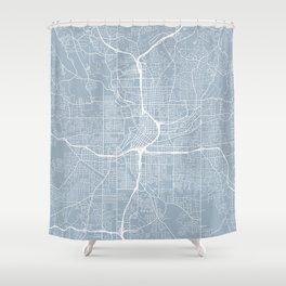 Atlanta Map, USA - Slate Shower Curtain
