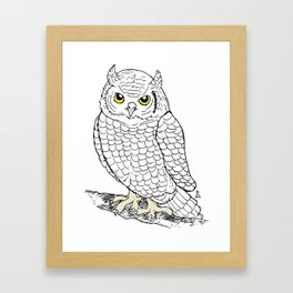 Cute Owl by Ines Zgonc Framed Art Print