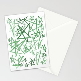 Helping Stars Green Stationery Cards