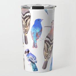 Birds watercolor in tetrad color scheme Travel Mug