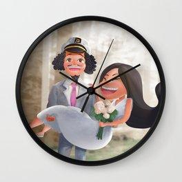 Cartoonish custom painting Wall Clock