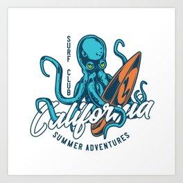 California Surf Club Art Print