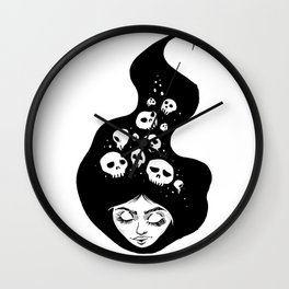Lady of the Dead Wall Clock