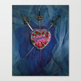 3 of Swords Canvas Print