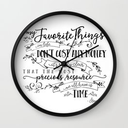 My Favorite Things Don't Cost Money - Steve Jobs Quote Wall Clock