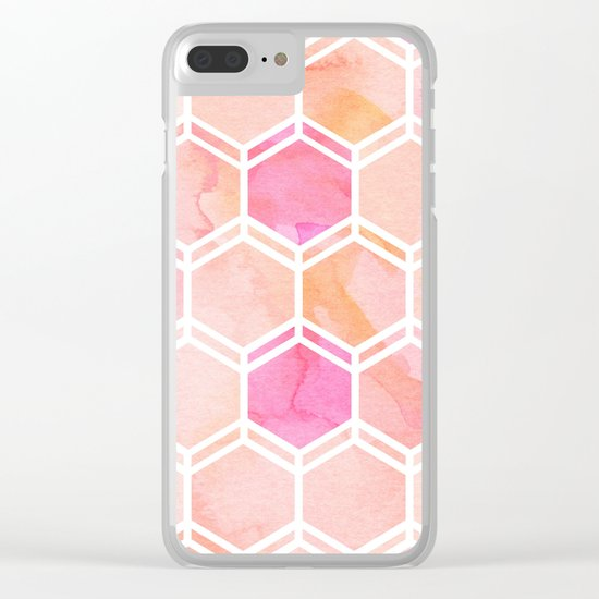 CORAL PARADISE Clear iPhone Case