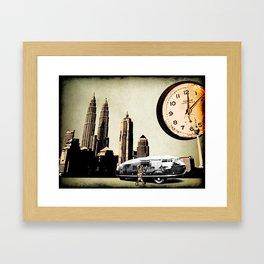 Clockman dymaxion technique Framed Art Print