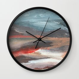 Serenity [2]: an acrylic piece in both warm and cool colors by Alyssa Hamilton Art Wall Clock