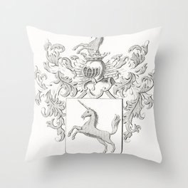 In the Shadow of the Wing the Black Creature Bit (1891) by Odilon Redon Throw Pillow