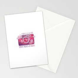 I Spend a Lot of Time Taking Photos of Books - Purple Stationery Cards
