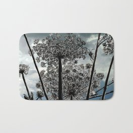 Queen Anne's Lace from a bug's view Bath Mat