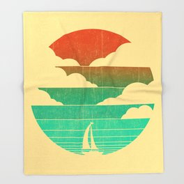 Go West (sail away in my boat) Throw Blanket