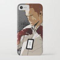 dexter iPhone & iPod Cases featuring Dexter by Elena Casagrande