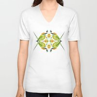 soul eater V-neck T-shirts featuring green bee eater  by Manoou